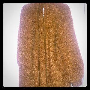 American eagle xl brown long sweater